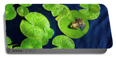 Portable Battery Charger featuring the photograph Ribbit by Greg Fortier