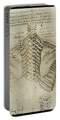 Portable Battery Charger featuring the painting Ribcage Main by James Christopher Hill