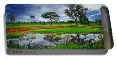Rice Paddy View Portable Battery Charger by Ian Gledhill