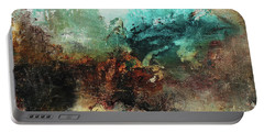 Rich Earth Tones Abstract Not For The Faint Of Heart Portable Battery Charger