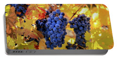 Rich Fall Colors With Grapes Portable Battery Charger