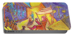 Rich Fool Parable Painting By Bertram Poole Portable Battery Charger