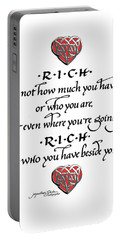 Rich Is Who You Have Beside You Portable Battery Charger