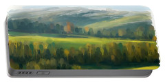 Portable Battery Charger featuring the painting Rich Landscape by Ivana Westin