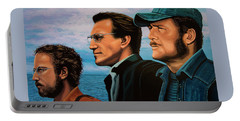 Jaws With Richard Dreyfuss, Roy Scheider And Robert Shaw Portable Battery Charger