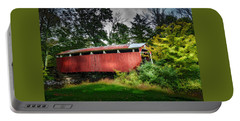 Portable Battery Charger featuring the photograph Richards Covered Bridge by Marvin Spates