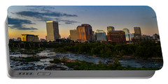 Richmond Skyline At Dusk Portable Battery Charger