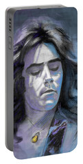 Portable Battery Charger featuring the drawing Rick At Play by Terry Webb Harshman
