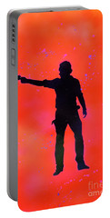 Rick Grimes Portable Battery Charger by Justin Moore