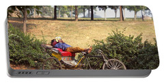 Rickshaw Rider Relaxing Portable Battery Charger