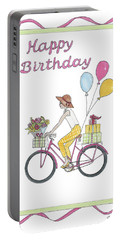 Ride In Style - Happy Birthday Portable Battery Charger