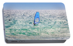 Portable Battery Charger featuring the photograph Ride The Waves, Scarborough Beach by Dave Catley
