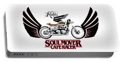 Ride With Passion Cafe Racer Portable Battery Charger