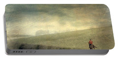 Portable Battery Charger featuring the photograph Rider In The Storm by LemonArt Photography