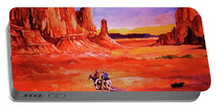 Riders In The Valley Of The Giants Portable Battery Charger