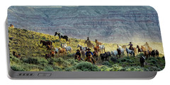 Riding Out Of The Sunrise Portable Battery Charger