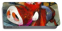 Portable Battery Charger featuring the photograph Riding Pig Of Pismo Beach by Floyd Snyder