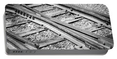 Portable Battery Charger featuring the photograph Riding The Rail by Colleen Coccia