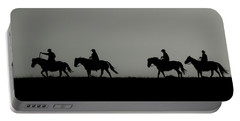 Riding The Range At Sunrise Portable Battery Charger