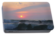 Portable Battery Charger featuring the photograph Riding The Second Wave by Robert Banach
