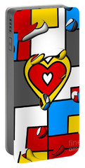 Right In The Heart By Nico Bielow Portable Battery Charger by Nico Bielow