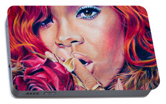 Rihanna Portable Battery Charger by Brian Owens
