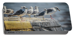 Portable Battery Charger featuring the photograph Ring Billed Gulls by Ray Congrove