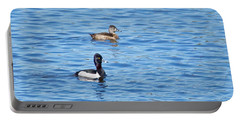 Ring-neck Ducks Portable Battery Charger by Michael Peychich
