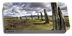 Ring Of Brodgar Portable Battery Charger by Fran Gallogly