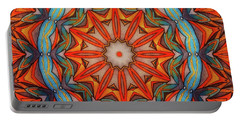 Portable Battery Charger featuring the drawing Ring Of Fire by Mo T