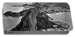 Rio De Janeiro - Sugar Loaf, Corcovado And Baia De Guanabara Portable Battery Charger