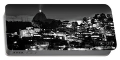 Rio De Janeiro - Christ The Redeemer On Corcovado, Mountains And Slums Portable Battery Charger
