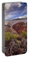 Portable Battery Charger featuring the photograph Rio Grande Gorge Bridge by Jill Battaglia