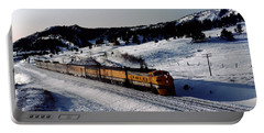 Rio Grande Zephyr Trainset In The Snow, Plainview Colorado, 1983 Portable Battery Charger