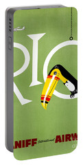 Rio Vintage Travel Poster Restored Portable Battery Charger