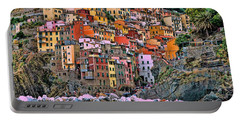 Portable Battery Charger featuring the photograph Riomaggiore by Allen Beatty