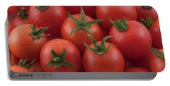Portable Battery Charger featuring the photograph Ripe Garden Cherry Tomatoes by James BO Insogna