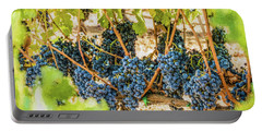 Ripe Grapes On Vine Portable Battery Charger