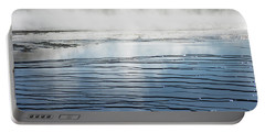 Ripples And Steam In Midway Geyser Basin Portable Battery Charger