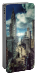 Portable Battery Charger featuring the photograph Rise Above - Chrysler Building New York by Miriam Danar