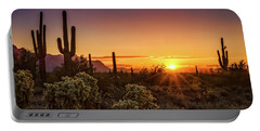 Portable Battery Charger featuring the photograph Rise And Shine Arizona  by Saija Lehtonen