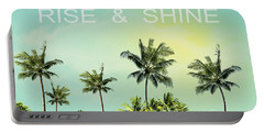 Rise And  Shine Portable Battery Charger by Mark Ashkenazi