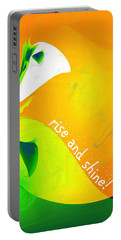 Portable Battery Charger featuring the digital art Rise And Shine by Methune Hively