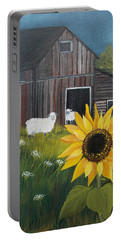 Portable Battery Charger featuring the painting Rise And Shine by Virginia Coyle