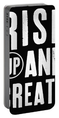 Rise Up And Create- Art By Linda Woods Portable Battery Charger