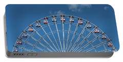 Rise Up Ferris Wheel In The Clouds Seaside Nj Portable Battery Charger by Terry DeLuco