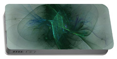 Portable Battery Charger featuring the digital art Ritual Dance by Jeff Iverson