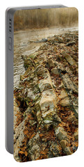 Portable Battery Charger featuring the photograph River Bank by Iris Greenwell