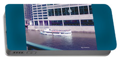 Portable Battery Charger featuring the photograph River Boat Tour by Elly Potamianos