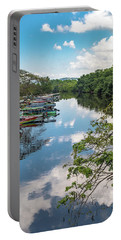 River Boats Docked In Negril, Jamaica Portable Battery Charger